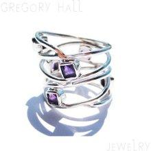 Sterling Silver 925 Ring Rings Purple Amethyst Gemstone Wedding Band Engagement Jewelry Jewellery SSR-195