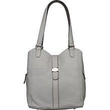 Tignanello Pebble Leather Tote Bag with Tab Closure - White - One Size