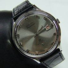 Used 70's Felca Skymaster Silver Dial Date Auto Man's