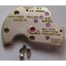Used Rolex Watch Movement 1130 Bridge Automatic Upper 6825