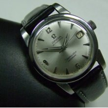 Vintage 60's Omega Seamaster Calendar Silver Dial Date Auto Man's