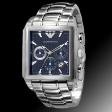 100% Authentic Emporio Armani Men's Chronograph Stainless Steel Watch Ar0660