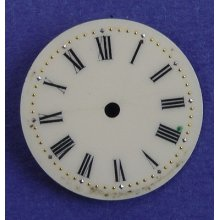Antique Ladies Painted Porcelain Pocket Watch Or Wrist Watch Dial, 22 Mm (122)