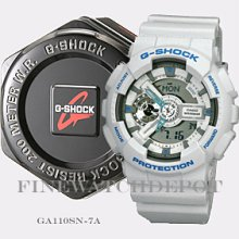 Authentic G-shock X-large White Digital Watch Ga110sn-7acr