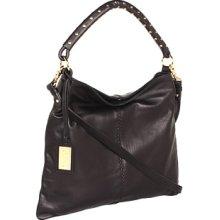 Badgley Mischka Lily Studded Soft Pebble Shoulder Bag Shoulder Handbags : One Size