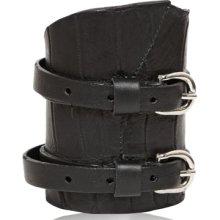 balmain crocodile & calfskin buckle bracelet