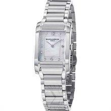 Baume & Mercier Womens Hampton Mother Of Pearl Dial Quartz Watch Moa10050