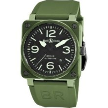 Bell and Ross Military Khaki Ceramic Mens Watch BR0392-CERAM-MIL