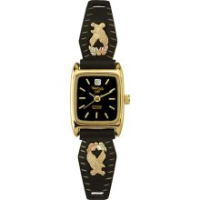 Black Hills Gold by Coleman Ladies Black Coated Gold Eagle Watch
