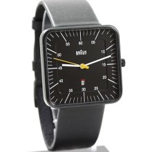 Braun Men's Dieter Analog Black Square Watch Bn0042