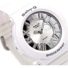 Casio Baby-g, Analog-digital, Neon Illuminator, Bga160 Bga-160-7b1, White