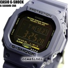 Casio G-shock Classic G-5600nv-2 G-5600nv-2dr Navy Blue Solar Toughness