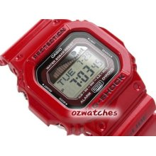 Casio G-shock G-lide Moon Phase Glx-5600 Glx-5600-4 Red Stock Resistance W/ Box