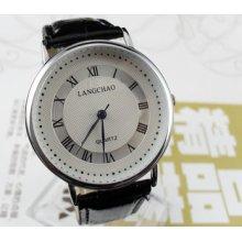 Classic Casual Black Men's Dial Quartz Wrist Watches Hour Clock Bracelet