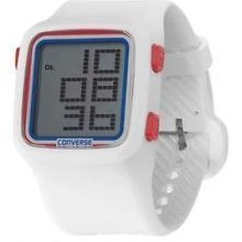 Converse Unisex White Digital Rubber Strap VR002-115 Watch