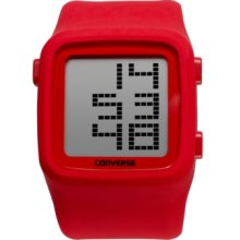 Converse Watch, Unisex Digital Scoreboard Red Silicone Strap 43mm VR00