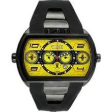 Dash XXL Men's Watch with Black Case and Yellow Dial ...