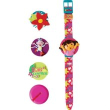 Dora The Explorer Kids Interchangeable Head Lcd Watch De36
