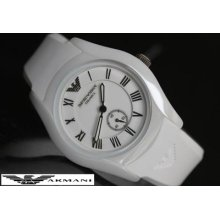Emporio Armani Ladie's Collection Second Dial Ceramic Ar1433