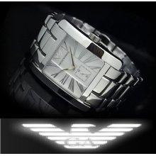 Emporio Armani Men's Roman Numeral Second Dial Watch Ar0182