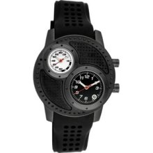 Equipe Octane Men's Watch With Black Case And Black / White Dial Q108