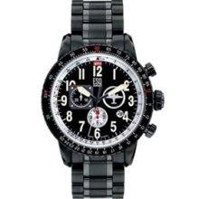 ESQ Mens Beacon Flight Chronograph - All Black - Tachymeter - Bracelet 07301239