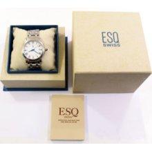 Esq Mens White Face E5349 Watch With Box