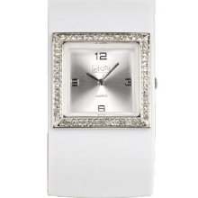Eton Ladies Watch 2791-W With Silver Dial And White Strap