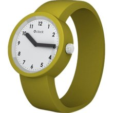 Fullspot O Clock Unisex Quartz Watch With White Dial Analogue Display And Green Silicone Bracelet Ocnw11-L