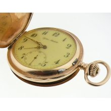 Glashutte Systeme Vintage 14k Yellow Gold Mechanical Pocket Watch 81.5gr