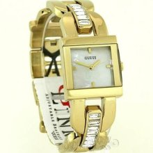 Guess Womens Watch Gold Steel Swarovski Mother Pearl U10530l1 Montre