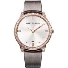 Harry Winston Midnight 39mm Quartz Rose Gold Watch 450/UQ39RL.W1/D3.1