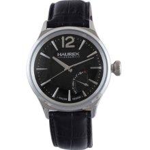 Haurex Italy 6A341un1 Mens Elegant Grand Class Black Dial Watch