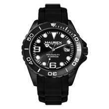 Haurex Italy Ink Black Dial Aluminum Mens Watch 1K374UNN