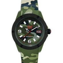 ICE Watch 'Army' Silicone Strap Watch, 48mm Green Camo