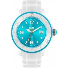 Ice-watch Si.wt.u.s.12 Ice-white Turquoise Watch Rrp £75