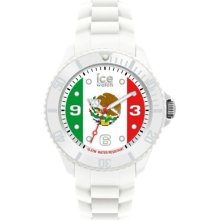 Ice-Watch Unisex Quartz Watch With Multicolour Dial Analogue Display And White Silicone Strap Wo.Mx.B.S.12