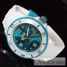 Ice-watch - Unisex White Sili Turquoise Dial Watch - Si.wt.u.s 12