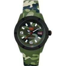 Ice-Watch Watch, Mens Ice-Army Khaki Camoflage Silicone Strap 48mm 102