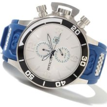 Invicta Mens Corduba Collection Large White Dial Swiss Blue Polyurethane Watch