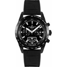 Jacques Lemans Liverpool Sport-Chrono 1-1636C Men's Black Leather Strap Watch