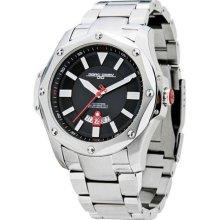Jorg Gray Mens Analog Stainless Watch - Silver Bracelet - Black D ...