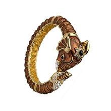 Kenneth Jay Lane Brown Elephant Bracelet
