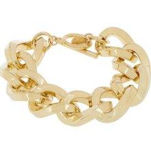 Kenneth Jay Lane's Twisted Link Bracelet - Goldtone - One Size