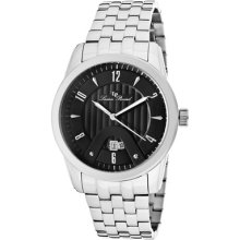 Lucien Piccard Watch 12355-11 Men's Diablons Black Dial Stainless Steel