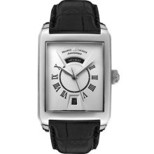 Maurice Lacroix Pontos Rectangulaire Day-Date Stainless Steel Men's Timepiece - PT6137-SS001-11E
