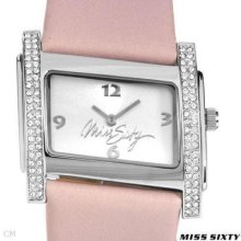 Miss Sixty Sz8002 Ladies Watch Pink W/crystals 39990