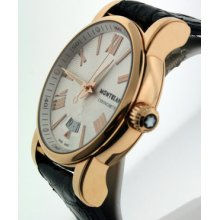 Montblanc Star 18k Rose Gold $12,800.00 Automatic With Date 42mm Men's Watch.