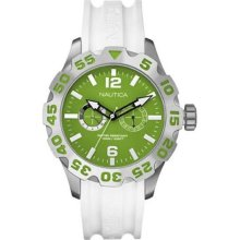 Nautica BFD 100 White And Green Mens Watch N16617G ...