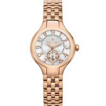Philip Stein Mini Round Bracelet Watch, 28mm Rose Gold